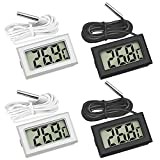 Thlevel Mini LCD Digital Thermometer Temperatur Luftfeuchtigkeit Tester (4 PCS mit extern Sensor)