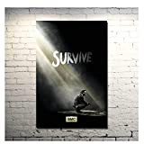 OPBGM The Walking Dead Staffel 6 TV-Serie Kunst Poster Druck Bilder Leinwand Wandkunst für Raumdekor -20X30 Zoll ohne Rahmen