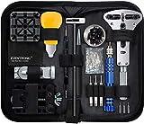 Eventronic Uhrenwerkzeug Set , Uhr Reparatur Uhrmacherwerkzeug Uhr Werkzeug Tasche Watch Tools in Schwarze Nylontasche