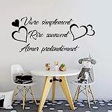 Live Einfache Wandaufkleber Lebhafte Einfache Familienliebe Zitate Herz Wandtattoos Wohnzimmer Kinderzimmer Schlafzimmer Vinyl Dekoration