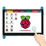 Für Raspberry Pi 4, ELECROW Raspberry Pi Display 5-Zoll HDMI Touchscreen Monitor 800x480 Kompatibel mit Raspberry Pi 4 3B + 3B 2B BB Schwarz Banane Pi Windows 10 8 7