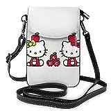 XCNGG Kleine Geldbörse Hello K-itty Crossbody Bags for Women's Crossbody Handbags Cell Phone Purse Waterproof Leather Handbags Small Wallet