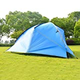EXCLVEA Zeltplane Camping Hochwertiger wasserdichter Campingplatz Outdoor-Markise Familienzelt-Gewächshaus zum Wandern Camping (Farbe : Blau, Size : 480x480x480x200cm)