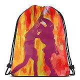 XCNGG Sporttasche Kordeltasche Reisetasche Sporttasche Schultasche Rucksack Drawstring Bag Anakin and Obi-Wan'S Duel Tapestry Training Gymsack