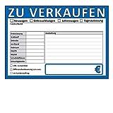 ZU VERKAUFEN Schilder DIN A4, beidseitig bedruckt, KFZ, Auto, PKW Handel (DIN A4, Blau, 10)