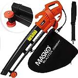MASKO® Elektro Laubsauger | 3 in 1 | 3000W | Schultergurt und Rollen | Fangsack 45L | Laubbläser Gartensauger Gartenbläser R
