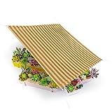 LSXIAO Schatten Segel Cool Shade Canopy, Sichtschutzzaun Bildschirm, Filter Licht Wärmeisoliert Atmungsaktiv Mit Metalltülle Für Veranda, Veranda, Garten (Color : Brown, Size : 0.6x1m)