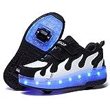 Nsasy Rollschuhe Schuhe Mädchen Jungen Rollschuhe Kinder Rad Schuhe Roller Sneakers Schuhe mit Rollen für Kinder