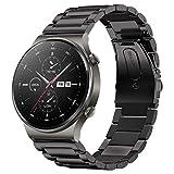 SPGUARD Armband Kompatibel mit Huawei Watch GT2 Armband 46mm Huawei Watch GT2e Armband,22mm Edelstahl Ersatzarmband für Huawei GT2e/Huawei Watch GT 46mm/Huawei Watch GT(Schwarz)