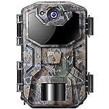 Victure Wildkamera 20MP mit Bewegungsmelder Nachtsicht 1080P Beutekameras mit Infrarot Leichtes Glühen IP66 Wasserdicht für Jagd und Tierbeobachtung