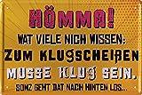 """schilderkreis24 Lustiger Ruhrpott Spruch """"Hömma! Wat viele nich wissen:"""" Deko Humor Dialekt Türschild Metallschild Schild Witziges Geschenk zum Geburtstag oder Weihnachten Ruhrdeutsch 20x30 cm"""