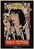 xiangpiaopiao Pulp Fiction B Retro Poster Leinwandmalerei Bar Cafe Wandkunst Poster Bilder Wohnzimmer Schlafzimmer Wohnkultur 50X70Cm Kq-304