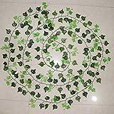 100pcs Blatt 1 Stück 2.4M Home Decor Künstliche Efeublatt Girlande Pflanzen Vine Fake Laub Blumen Creeper Green Ivy Kranz - Beige
