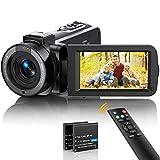 Videokamera Camcorder FHD 1080p 36MP Vlogging Kamera für YouTube IR Nachtsicht 30FPS Digitalkamera 3,0'' 270°Drehbarer IPS Bildschirm Kamera Camcorder mit 16X Digitalzoom, Fernbedienung, 2 Batterien…