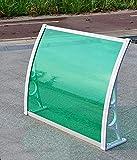 YYLL Vordach Für Haustür Outdoor-Tür & Fensterregen-Regen-Cover-Haushalter-Baldachin-Regenschutz-weißer Halterung, Last 100kg (Color : Grass Green Board, Size : 150X60CM)
