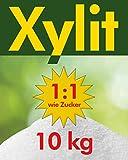 10kg Xylit Birkenzucker | 10 x 1kg Beutel | 40% weniger Kalorien | zahnfreundlich & vegan | süßt 1:1 wie Zucker