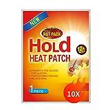 Supchamp Wärmepflaster 10 Stück, Klebend Einweg-Wärmepads für Rücken, Nacken Schultern und Bauch, Schmerzlinderung 12 Stunden Angenehme Wärme 100% Natü