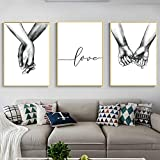 Nicole Knupfer 3-teiliges Premium Poster-Set, Hand in Hand,Wandposter Posterset,Ohne Rahmen,Wand Deko Bild,Wohnzimmer Schlafzimmer Modern Fine Art (50x70cm)