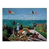 Claude Monet   Die Terrasse bei Sainte-Adresse, 1867 Poster, Wanddekoration, 40,6 x 61 cm