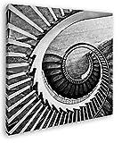 deyoli gekrümmte Wendeltreppe Format: 70x70 Effekt: Zeichnung als Leinwandbild, Motiv auf Echtholzrahmen, Hochwertiger Digitaldruck mit Rahmen, Kein Poster oder Plakat