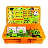 Pevfeciy Elektro Experimentierkasten für Kinder, experimentierkasten magnetismus,elektrobaukasten für Kinder, Elektrizität Magnetismus Experiment Bildung Kits für Junior Senior High School Studenten