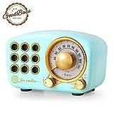 Retro Radio Bluetooth-Lautsprecher Vintage Radio Greadio FM Radio mit altmodischem klassischem Stil, Starke Bassverstärkung,Laute Lautstärke,Bluetooth 4.2-Anschluss,TF-Kartenslot und MP3-Player blau