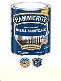 750 ml Hammerite Direkt auf Rost Metall-Schutzlack Weiß, Glanz