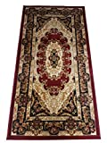 oKu-Tex Webteppich Teppichläufer Brücke 'Bidjar' | Orientmuster, Medallion | Farbe: Rot | 60 x 110