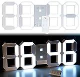 Lunartec LED Uhr: Digitale XXL-LED-Tisch- & Wanduhr, 45 cm, dimmbar, Wecker, Fernbedien. (LED Uhr Schlafzimmer)