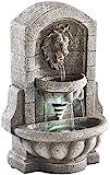 infactory Wasserbrunnen: Beleuchteter Zimmerbrunnen Löwenkopf mit LED und Pumpe (Zimmerbrunnen mit Beleuchtung)