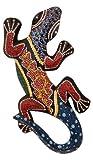 Woru Deko-Gekko FIRE Flames, Holz, Wandschmuck, wahlweise Verschiedene Größen, von Klein bis Groß, Wand-Deko, (30 cm)
