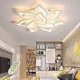 LED Deckenleuchte Dimmbar mit Fernbedienung Farbwechsel Schlafzimmer Deckenlampe moderne Deckenbeleuchtung Wohnzimmerlampe Kronleuchter Lampe,Dimming,85