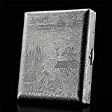 Zigarettenetui Zigarettenetui aus reinem Kupfer Metall 16/20 Integriertes ultradünnes Metall Boutique-Zigarettenetui (Farbe: Silber, Größe: 93X78X16MM)