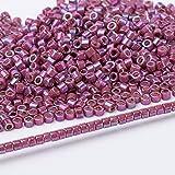 Japan Glasperlen Runde Metallic Mehrfarben Party Ohrring 11/0 3 Gramm / Lot Über 600 Stück-DB1015,3 Gramm