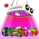 LED Pflanzenlampe 1100W , einstellbares Vollspektrum, einstellbares Seil, längere Lebensdauer, COB-Pflanzenlicht für die Keimung von Zimmerpflanzen, Sämling, Gemüse und Blumen (schwarz) (schwarz)