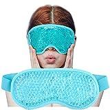 Augenmaske Kühlend, Augen Kühlmaskez, Kühlpads Augenmaske, für Geschwollene Augen, Cooling Eye Mask, Trockene Augen und Kopfweh Augenringe Tränensäcke & Migräne Anregung Durchblutung/Entspannung