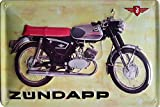 ZÜNDAPP KS50 Moped, hochwertig geprägtes Retro Werbeschild, Blechschild, Türschild, Wandschild, 30 x 20 cm