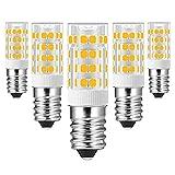 SHKUU E14 LED-Glühbirnen AC100-130V / 220-240V Äquivalent 30W-70W Halogenlampe Energieeinsparung für die Innenbeleuchtung, Puck-Leuchten, Unterbauleuchten, Warmweiß, 3W