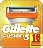 Gillette Fusion 5 Rasierklingen mit Trimmerklinge für Präzision und Gleitbeschichtung, 16 Ersatzkling