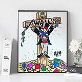 NC68 Leinwand drucken Bild Graffiti Wandkunst Gemälde Kriegsgefangene Wohnkultur Cartoon Modular Poster für Wohnzimmer Dekor | 40x60cm (kein Rahmen)