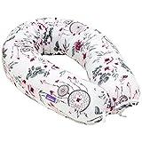 Jukki® Stillkissen, Seitenschläferkissen, Schwangerschaftskissen XXL, Kissen 170 cm für Mutter und Baby, Lagerungskissen, mit Bezug aus 100% Baumwolle, Baby Pillow