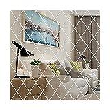 sknonr DIY 3D Spiegel Wandaufkleber Diamanten Dreiecke Acryl Wandspiegel Wandaufkleber für Kinderzimmer Wohnzimmer Wohnkultur (Color : A, Size : 50x100cm)