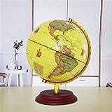 WLGQ Globen für Kinder 25 25 cm (10') beleuchtete Weltkugel für Kinder, 2 in 1 Desktop Geographie Bildung Globe Nachtlichtlampe - Geographie Lernspielzeug