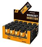 Body Attack - Preworkout Booster Shot, 200mg Koffein & 500mg L-Tyrosin, hochdosierter Workout Booster mit L-Citrullin, Beta-Alanin, für alle Sportler & Athleten - Made in Germany- 60ml, Orange-Cola