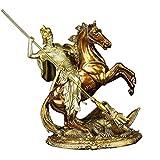 LYTBJ Ritter Statue Dekoration, Templer Skulptur Drachen Ritter Mittelalterliche Skulptur Home Kreative Dekoration Geschenk