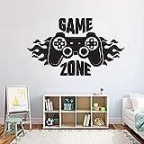 Kinder Schlafzimmer Wandtattoo Home Decoratetion Game Zone Gamer Kunst Aufkleber Wandbild Jungen Spielzimmer Wand 71 * 42 Cm
