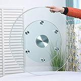 MANG 20/24inch Lazy Susan Drehplatte Aus Gehärtetes Glas, Runder Transparent Drehteller Servierplatte Für Küche Esstisch, Für F