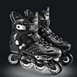 Inline-Skates - Fitness Inline-Skates, Outdoor- und Indoor-Performance Inline-Skates für Junior- und Jugend-Performance-Inline-Skates 【Schwarz】
