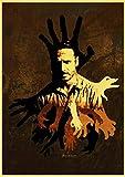 linbindeshoop Vintage The Walking Dead Staffel 7 Retro Poster Retro Bar Cafe Wohnkultur Malerei Wandaufkleber (LW-2053) 40x60cm Kein Rahmen