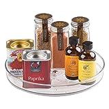 iDesign Küchen Organizer, kleiner Drehteller aus BPA-freiem Kunststoff für den Vorratsschrank, drehbarer Gewürzhalter für Vorratsdosen und Gewürze, durchsichtig